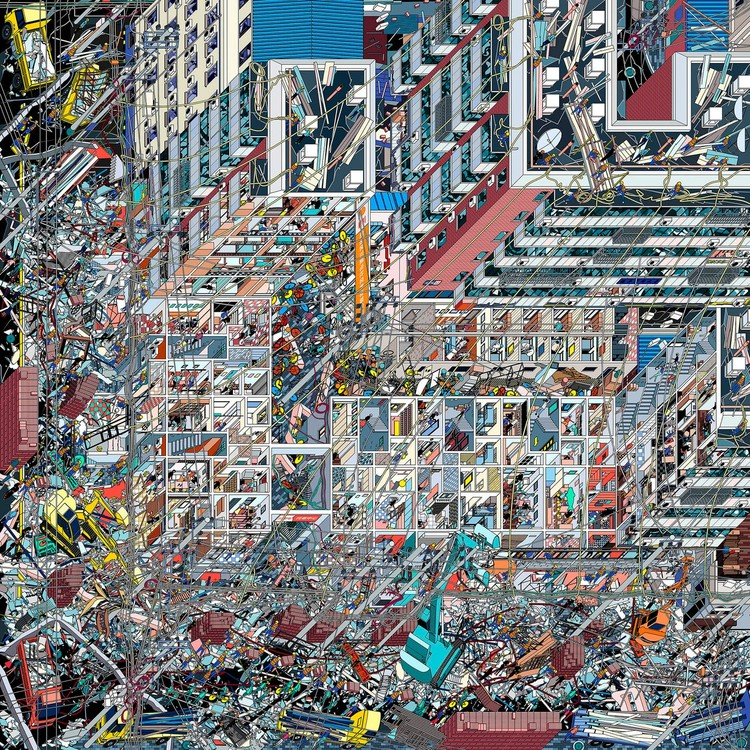 World Architecture Festival Call for Entries to The 2019 Architecture Drawing Prize, Li Han, The Samsara of Building No.42 on Dirty Street, 2017 (3)