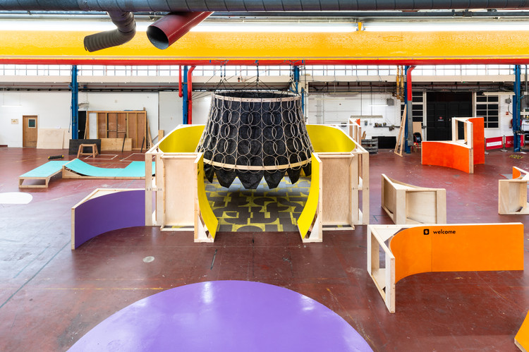 School Children Design and Build London's First Mega Maker Lab in Former Fire Station, © French & Tye