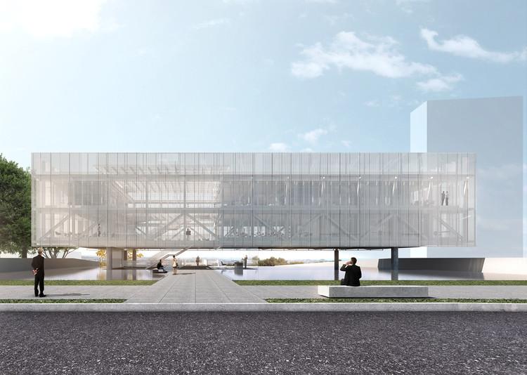 Estúdio Módulo vence concurso para a nova sede da Associação de Engenheiros e Arquitetos de Sorocaba, Fachada. Image Cortesia de Estúdio Módulo