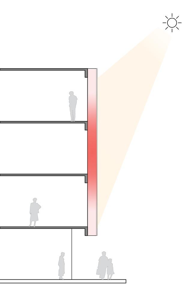 ¿Cómo funcionan las fachadas de doble piel?,Dias frios. Image Cortesia de ArchDaily