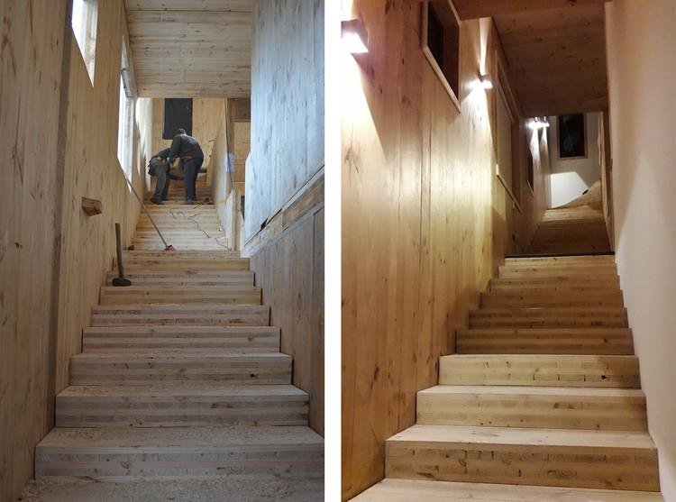 Antes y después de la aplicación de Osmo Wood Protect de Nuprotec. Image Cortesía de Jorge Calderón