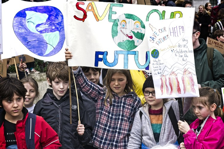 Arquitectas y arquitectos de todo el mundo se unen a la huelga climática global, Global Climate Strike. Image © Garry Knight