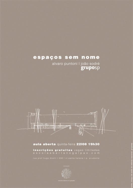 Aula aberta  | espaços sem nome, fonte: croqui da sede do sebrae nacional - brasília. edição antonio souza