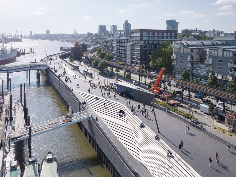 Paseo fluvial Niederhafen / Zaha Hadid Architects, © Piet Niemann