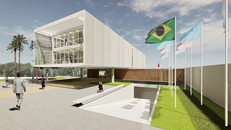 3º Lugar no concurso nacional para a Sede da AEA Sorocaba, Cortesia de AUÁ arquitetos + Estúdio Itinerante