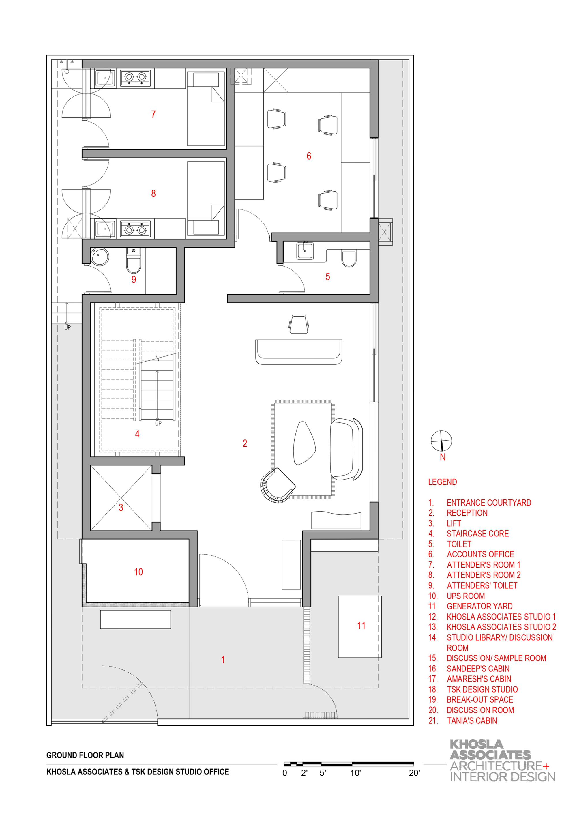 Lift And Staircase Design Plan
