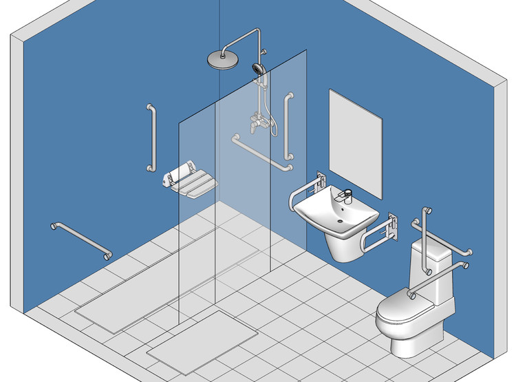 How to Design Safe Bathrooms for the Elderly, © Eduardo Souza
