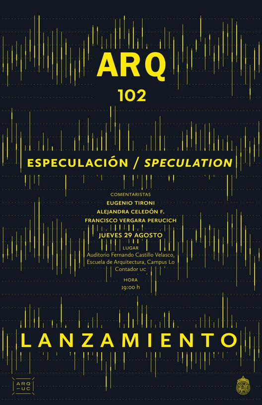Lanzamiento ARQ 102 Especulación, Rocio Camacho
