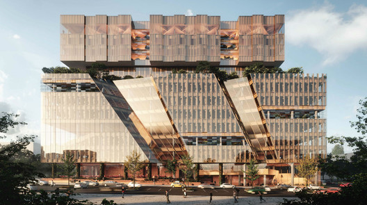 Woods Bagot Creates Stacked Design for New Melbourne Business School