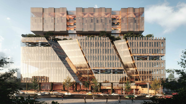 Woods Bagot Creates Stacked Design for New Melbourne Business School, Courtesy of Woods Bagot