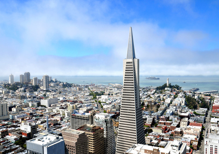 San Francisco's Iconic Transamerica Pyramid for Sale, via Shutterstock