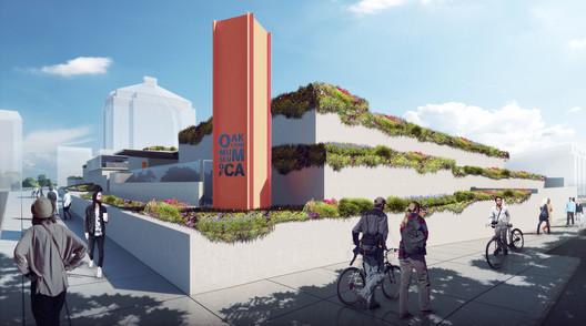 Oakland Museum of California Roof Garden. Image Courtesy of Hood Design Studio