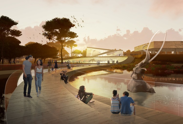Three Concepts Unveiled for La Brea Tar Pits Masterplan in Los Angeles , Courtesy of WEISS/MANFREDI