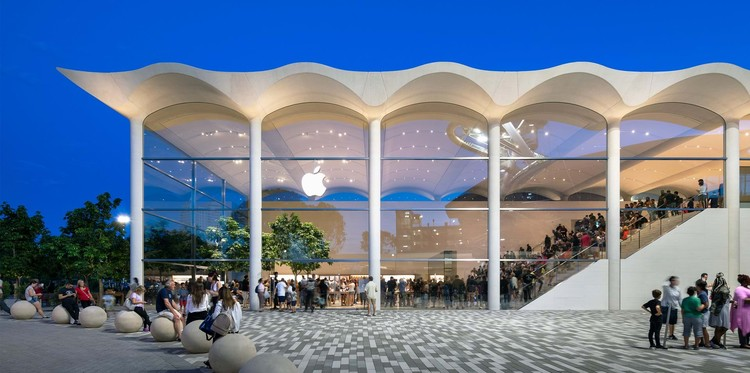 Foster + Partners  Envisions Miami's New Apple Store as a Nod to Nautical Heritage, Apple Aventura. Image © Nigel Young, Foster + Partners
