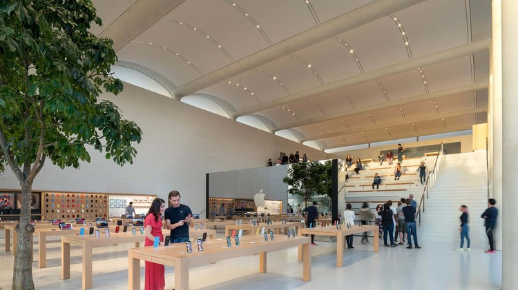 Foster Partners Envisions Miami S New Apple Store As A Nod To Nautical Heritage Archdaily