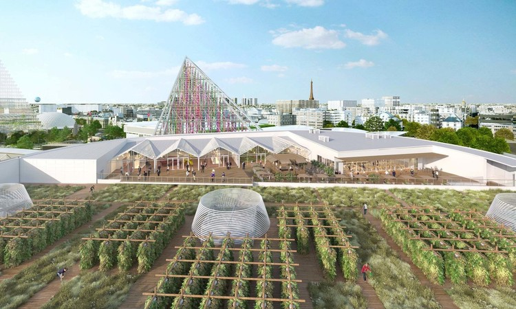 The World's Largest Urban Farm Opens Next Year in Paris, Courtesy of Valode & Pistre Architectes Atlav AJN