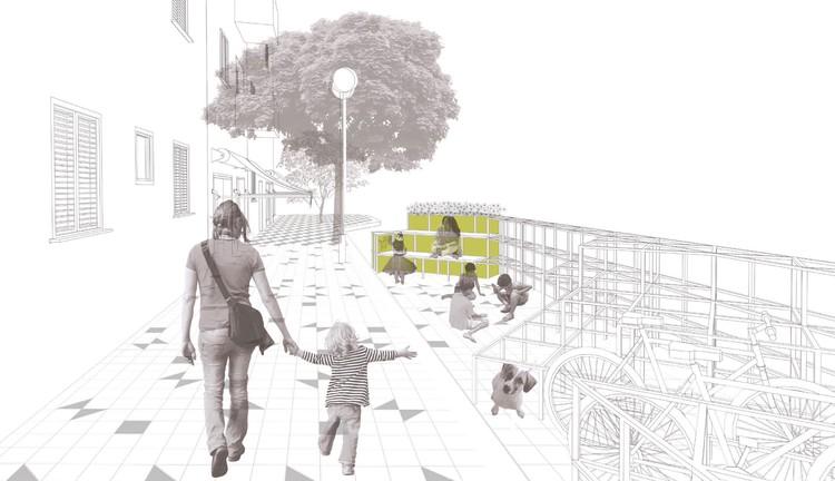 Os espaços livres da cidade e a liberdade das crianças: novos caminhos para a infância ao ar livre, Crianças brincando na Avenida Paulista, num domingo. Foto: Eduardo Augusto de Carvalho.