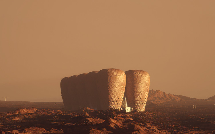 Designers Imagine Bamboo Colony on Mars, © Karim Moussa, Warith Zaki, Amir Amzar, Nasril Zarudin