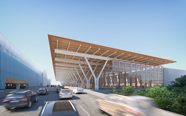 SOM Unveils Revised Design for $1.5 Billion Kansas City Airport Terminal, Courtesy of SOM