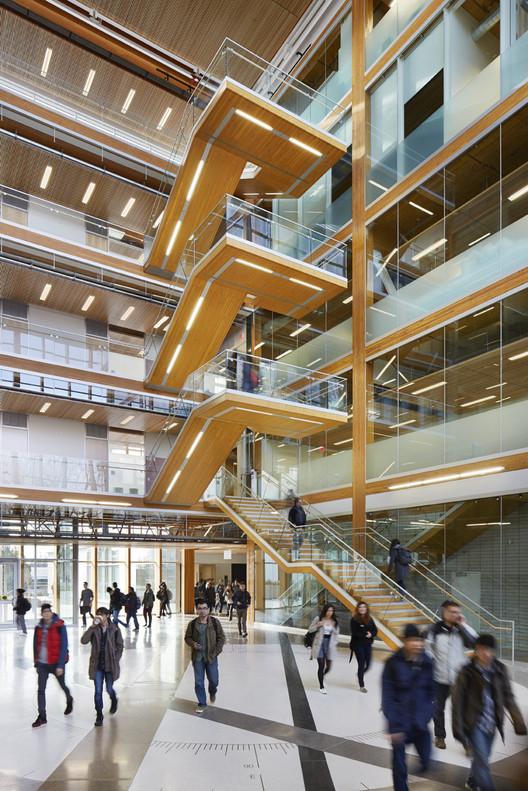 Interior of UBC Earth Sciences Building. Image © Martin Tessler