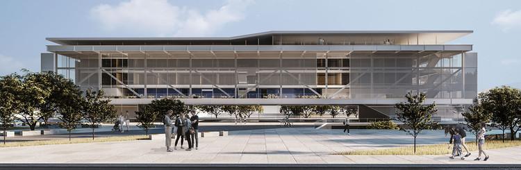 Resultados do 12º Concurso CBCA para Estudantes de Arquitetura - Fábrica de Ideias e Inovação, Primeiro Lugar. Image Cortesia de CBCA