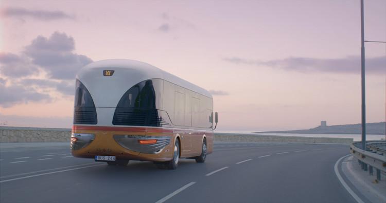 Renacimiento del bus de Malta. Imagen © Stargate Studios por parte de Mizzi Studio