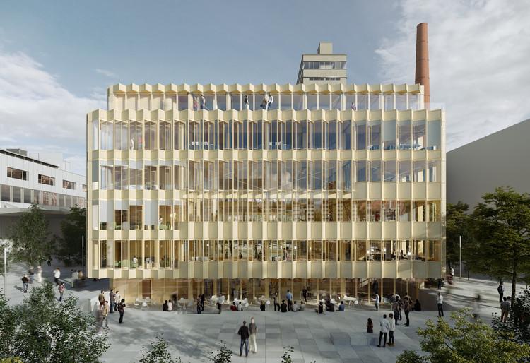 Estudio Herreros para Smart Living Lab en Suiza: una estructura de madera con elementos repetitivos e intercambiables a futuro, Imágen: ArtefactoryLab. Image Cortesía de Estudio Herreros