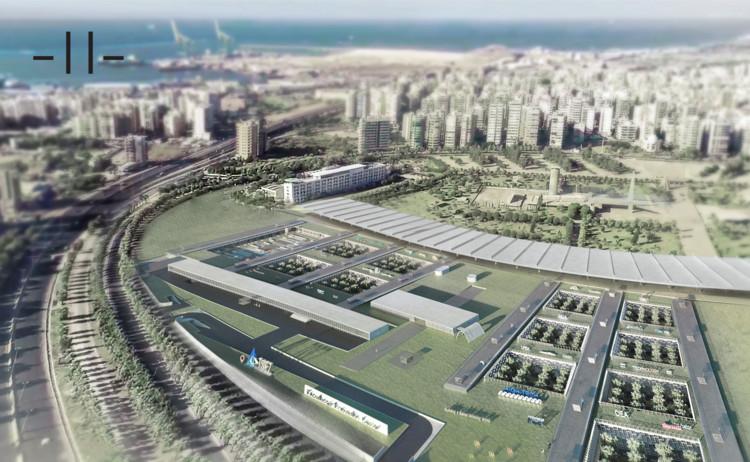 MDDM vence concurso para intervir na Feira de Trípoli projetada por Oscar Niemeyer no Líbano, Proposta vencedora MDDM. Imagem © MDDM