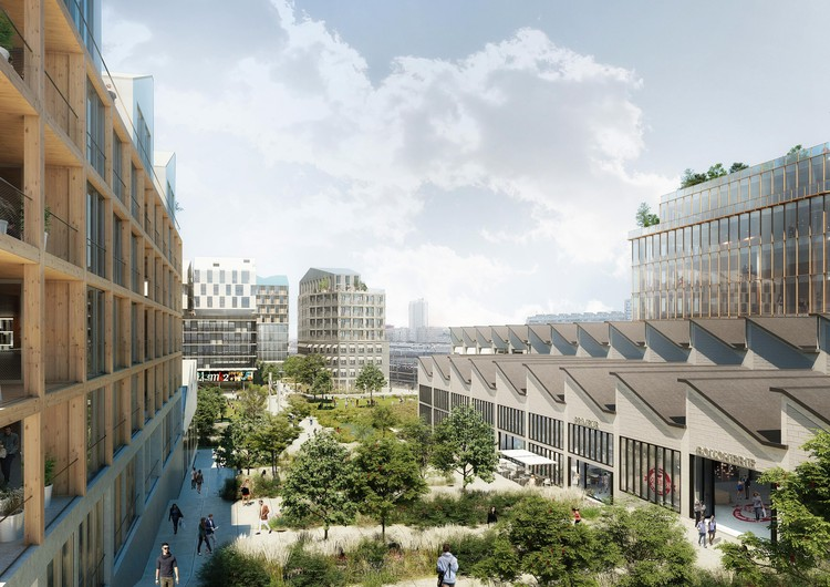 Old Central Railway Transformed into Socially Sustainable Urban Development in Paris, © renders by Luxigon- courtesy of SLA/Biecher Architectes/Emergie/Ogic