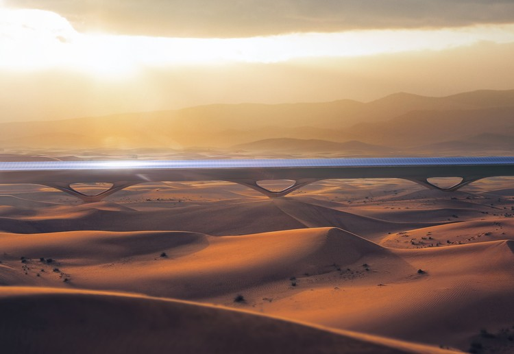 MAD Architects Designs Pylon Infrastructure for HyperloopTT, Courtesy of MAD Architects, HyperloopTT