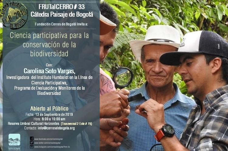 Cátedra Paisaje de Bogotá: Ciencia participativa para la conservación de la biodiversidad, Cerrosdebogota