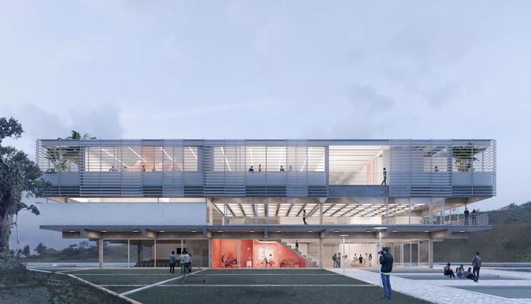 Resultado do concurso nacional para o novo edifício sede da FAU-UFJF, Primeiro lugar. Image Cortesia de FAU UFJF