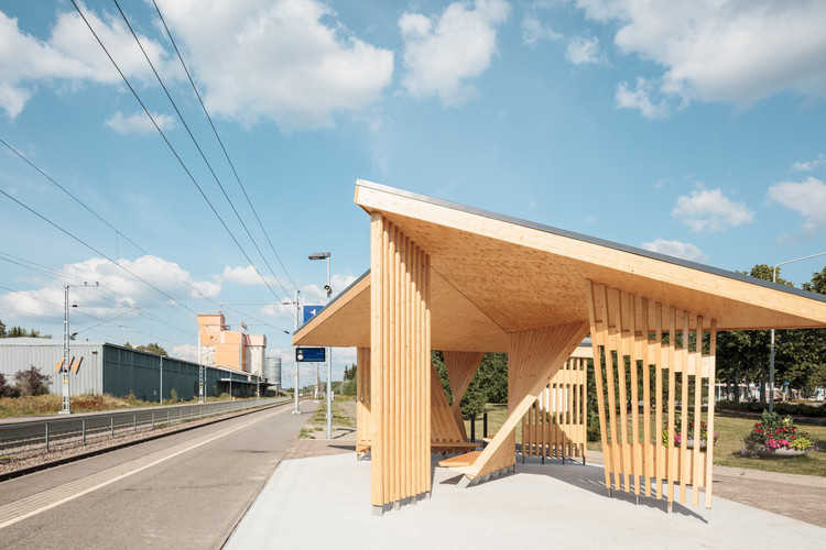 Kohta Train Station / Aalto University Wood Program, © Tuomas Uusheimo