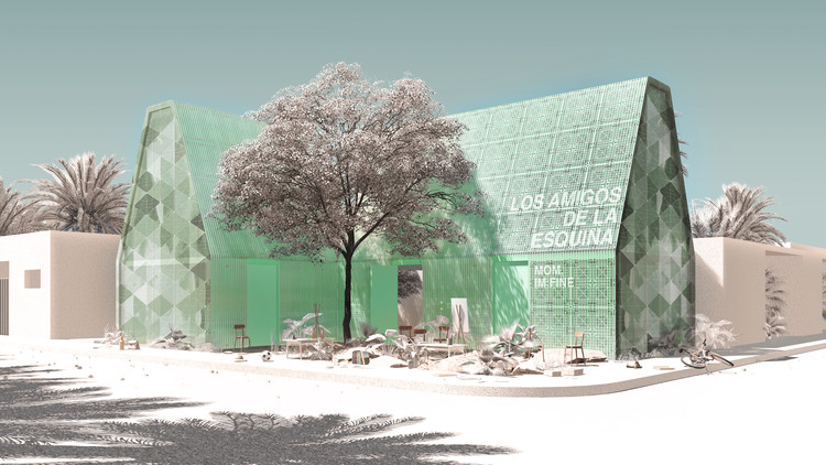 Winners Announced for a School Made from Recycled Plastic in Mexico, 1st PLACE. Image © Daniel Garcia, William Smith