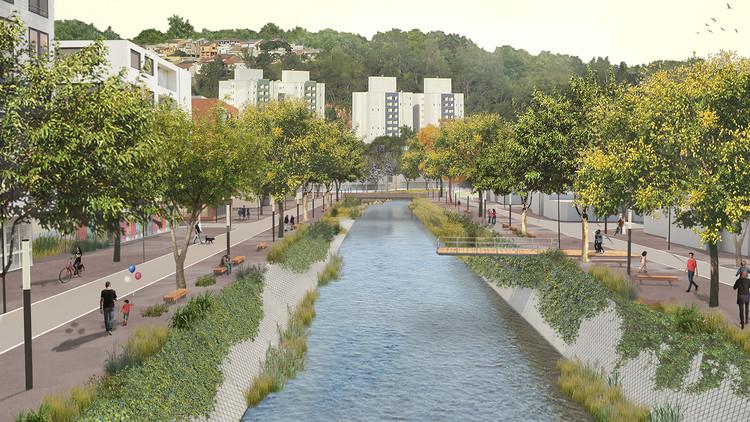 Primeiro lugar no concurso para a requalificação do Vale do Rio Jundiaí, Cortesia de Marie Caroline Lartigue