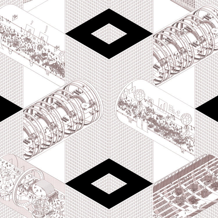 """Argigram: Arquitectos argentinos imaginan las ciudades del futuro, Ciudad Ciudad / Baag """"Ciudad - Ciudad"""". Image Cortesía de Martín Huberman"""