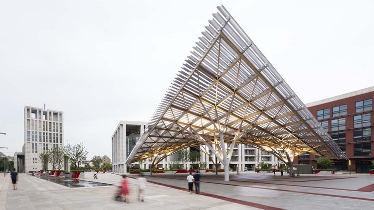 Anting New Town Central Square Renovation / Kokaistudios, canopy. Image © Marc Goodwin