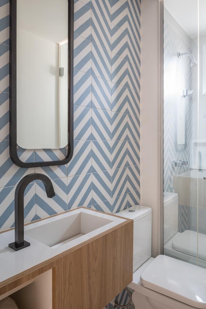 ¿Cuáles son los mejores revestimientos para baños?,© Haruo Mikami. Image Apartamento DT / Traama Arquitetura