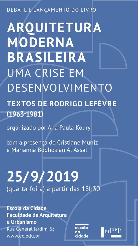 Escola da Cidade promove lançamento de livro sobre crise da arquitetura moderna brasileira