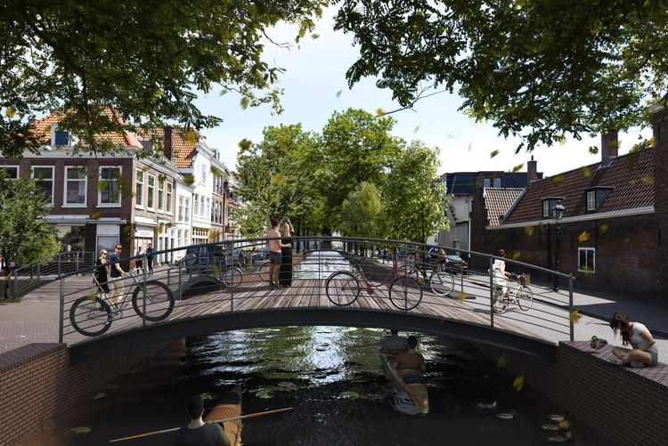 MVRDV+ Local Community Propose Plans for Lost Canals in The Hague, After. Image © MVRDV 2018