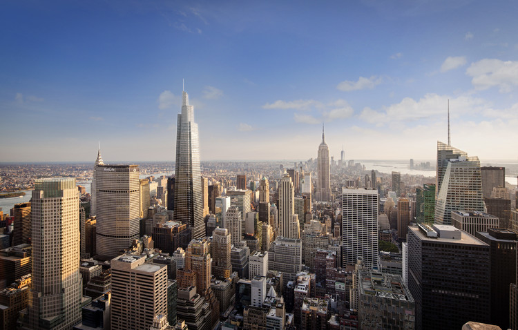 Tallest Office Tower in Midtown Manhattan Tops Out, © KPF