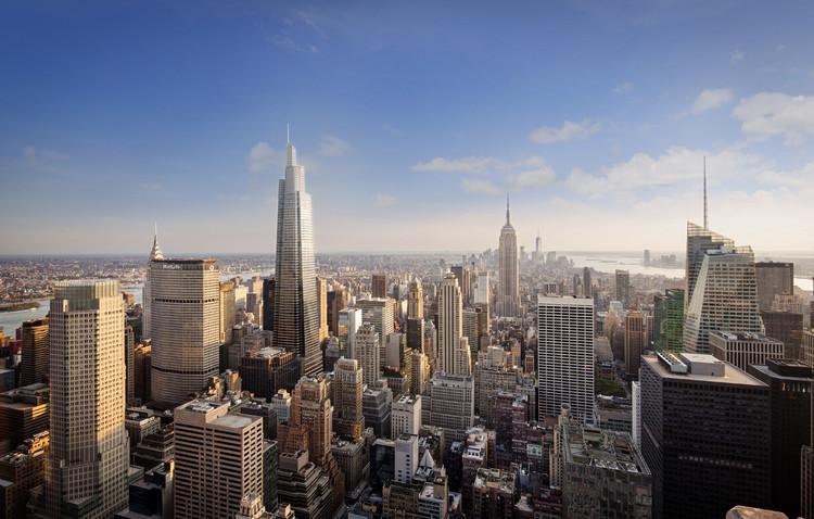 Nuevo edificio de oficinas más alto de Manhattan alcanza su altura máxima en construcción, © KPF