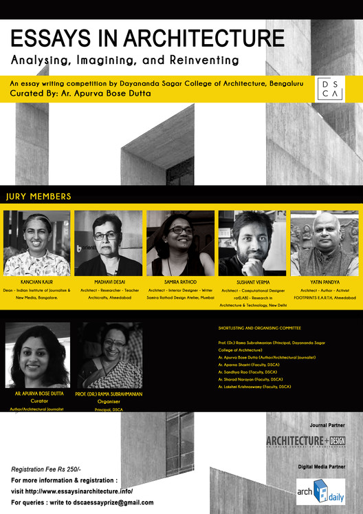 Call for Entries: ESSAYS IN ARCHITECTURE: Analyzing, Imagining, and Reinventing, ESSAYS IN ARCHITECTURE: Analyzing, Imagining, and Reinventing