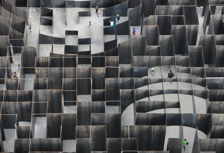 Architecture Has Limits to Achieve Urban Equity. What Should We Do?, Gijs Van Vaerenbergh's Labyrinth of Boolean Voids in Genk, Belgium. Image ? Filip Dujardin