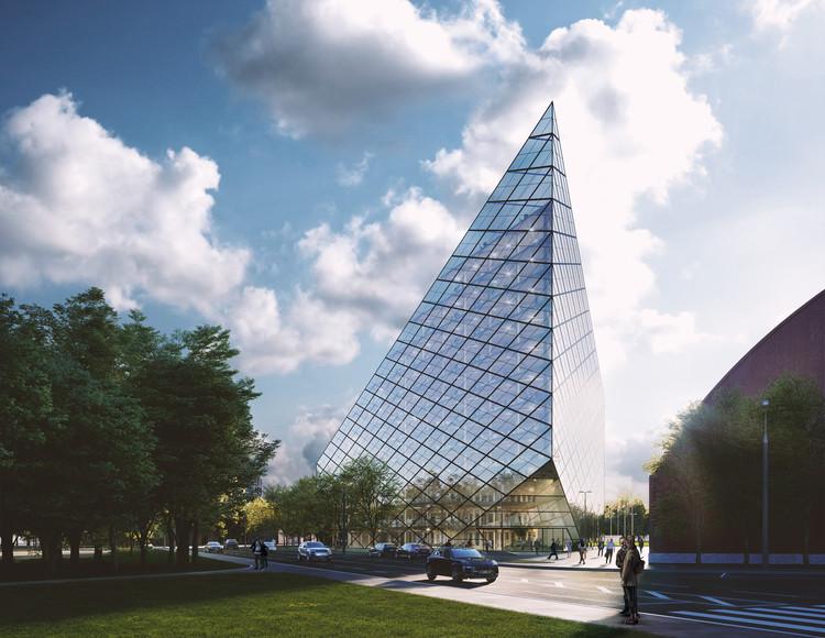 AI Studio projeta edifício de uso misto no centro tombado de Riga, na Letônia, © Photoreal3D