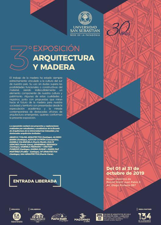 Exposición Madera y Arquitectura 2019 , © Universidad San Sebastián