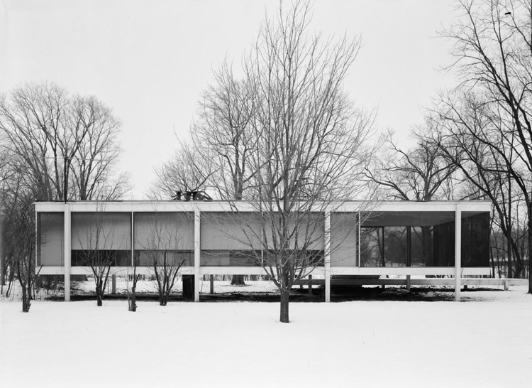 Mies van der Rohe Farnsworth House. Image © Public Property. Library of Congress, Prints & Photographs Division