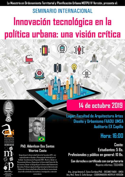 Seminario 'Innovación tecnológica en la política urbana, una visión crítica', Vania Calle
