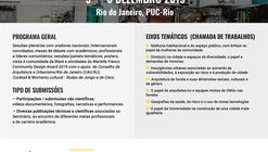 """Seminário Latino-Americano """"Risco, resiliência, arquitetura humanitária e incremental housing em favelas"""""""