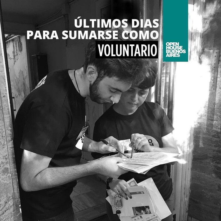 Open House Buenos Aires 2019: Participa como voluntario en el festival de arquitectura y urbanismo , Cortesía de Open House Buenos Aires